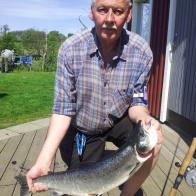 Bengt Roos, lax (vild), 3,2 kg och 69 cm. Gröningen 12/5.