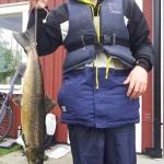 Thimmy Karlsson Bergström, lax 2,4 kg och 66 cm. Gröningen 13/10.