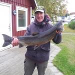 Stig Augustsen, lax 7 kg och 85 cm. Gröningen 13/10.