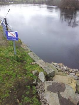 Nya trappan vid övre fiskegränsen på Gröningen.