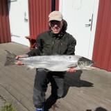 20/5: Christer Olsen, lax, 10,4 kg och 110 cm. Besesvängen.