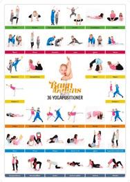 Plansch med Yogabilder -