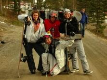 På väg mot skidsäsongens sista after ski