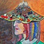 Kvinna för sin hatt
