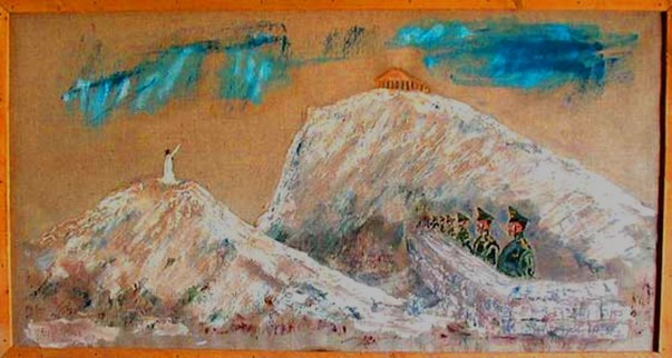 Oberkommando der Wehrmacht listen to the Apostle Paul under the Acropolis Oilcanvas 69x42 cm