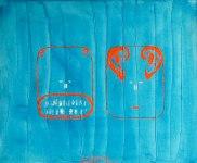 Speak or listen Oilcanvas 60x50 cm