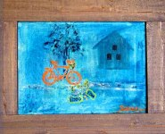 The bicycle Oilcanvas 60x50 cm