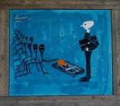 The Rat Trap   Oil canvas 50x40 cm