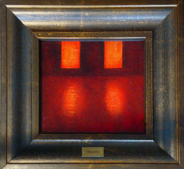 CHAMBRE Oil/Panoe 17x16C cm. 29x28 frame//Gallery Mona Lisa Paris 2013