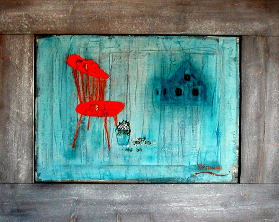 The Rib-backed chair Oilcanvas 45x 50 cm
