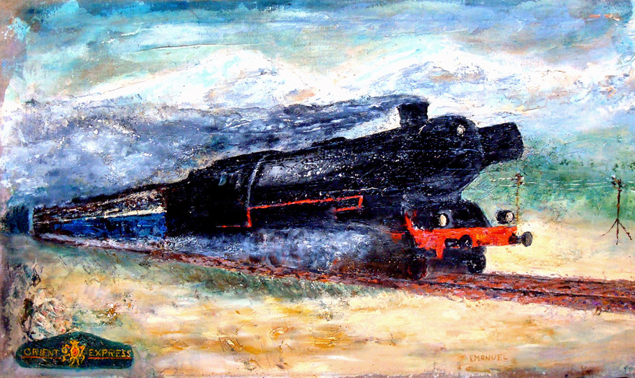 ORIENTEXPRESS Oil/ Canvas 81x51 cm