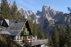 Theodor-Körner-Hütte i Dachsteinmassivet