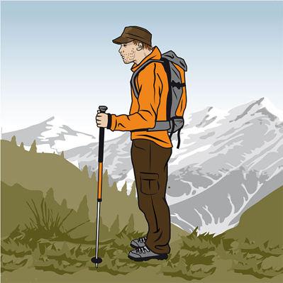 Rätt längd på stavarna © outdoor-magazin.com