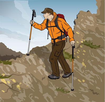 Rätt gång över sluttningar © outdoor-magazin.com