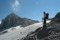 Rätikons högsta topp Schesaplana med Brandnerglaciären