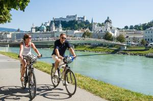 Cykelresa: På cykel i Salzburg i Österrike och dess fina omgivningar © Tourismus Salzburg