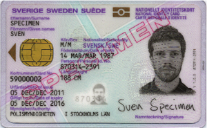 Detta är ett nationellt id-kort. Inte ett körkort.