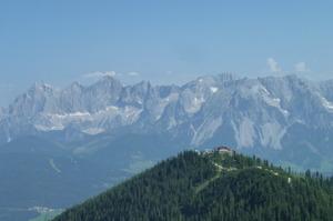 Utsikt från Rossfeld mot Hochwurzen och Dachstein © Austria Travel - Rusner