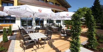 Hotell Aberseehof vid Wolfgangsee i Österrike