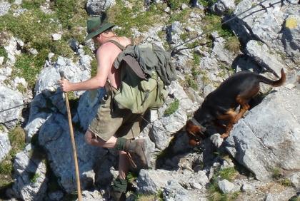 En tuffing med hund som vi mötte på en av våra vandringar © Austria Travel - Rusner