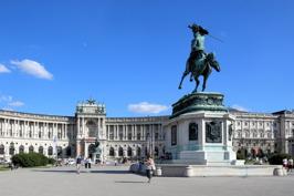 Heldenplatz i Wien © Wikimedia Commons - Bwag. Klicka för att se portalen på Ingress Intel Map.