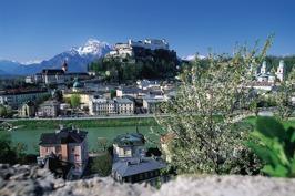 Salzburg med borgen Hohensalzburg. Klicka för att se portalen på Ingress Intel Map.