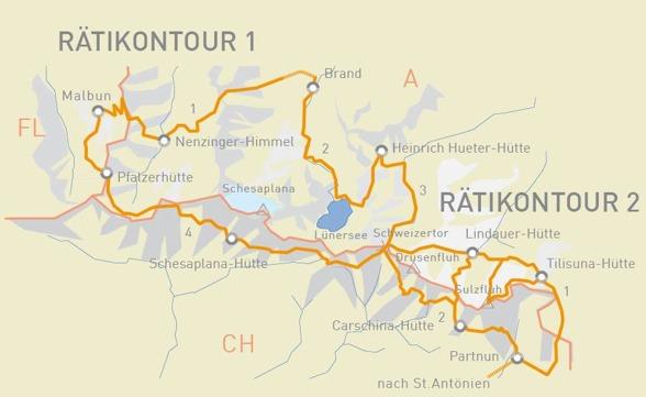 Vandring i Rätikon i Österrike, Schweiz och Liechtenstein