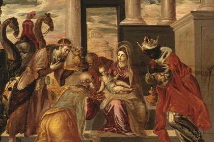 De tre kungarna tillber Jesus - El greco © Wikimedia Commons