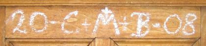 Önskan om välsignelse på dörren till klostret Marienberg i Südtirol - Public Domain