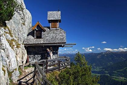 Kapellet Friedenskirchlein med fantastisk utsikt