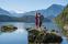 Vandrare vid sjön Altaussee