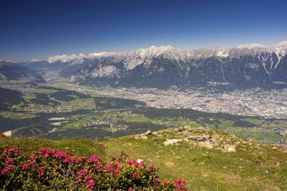 Utsikt över Innsbruck från toppen Patscherkofel © Innsbruck Tourismus