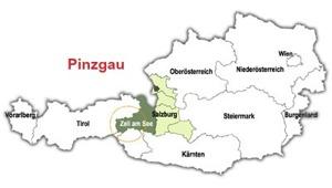 Regionen Pinzgau i Österrike