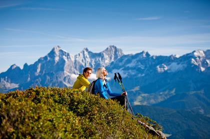 Fantastisk utsikt mot Dachstein! Schladming-Dachstein @ikarus.cc