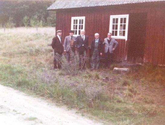 Nisse, Per, Karl och Evert på Nils bouppteckning