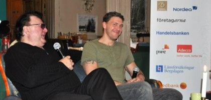 Runo och Jonny blir intervjuade på företagarfrukosten
