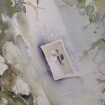 En del av en stor akvarell tavla, Kärlek