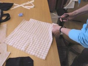 I vår textilverkstad kan man sy, tvätta och stryka