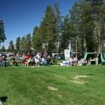 Publiken i ett soligt Lycksele Foto: Helge Koivusaari.