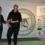 Oturspriset gick till Nina Djerf och Skogsereds Lizzy som blev halt och kunde ej starta dag 2.