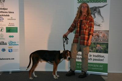 Urax på Kvinnokampen 2014 med matte Britta Lindgren, Kåge