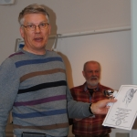 Hartrajens Rex äg, Ari Forsmark & Leif Sandberg, fick Championatpriset för hamiltonstövare.