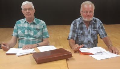 Hans Olofsson och Carl Åsemar ledde årsmötet