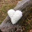 Vitt hjärta - Hjärtformad kudde ca 25 cm