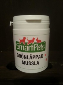 GRÖNLÄPPAD MUSSLA Smart Pets - Grönkäppad mussla  100gr