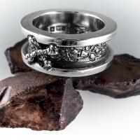 Ring i silver oxiderad