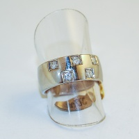 Ring ivitguld med diamanter