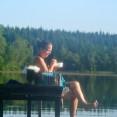Frukost & bad vid sjön Naturhälsogård juli 2012 199
