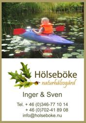Vattenaktiviteter med båt, flotte eller kajak i Vildmarksbyn Hölseböke Naturhälsogård