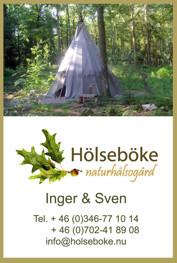 Annorlunda vildmarksboende - övernattning i indiantält i Hölseboke Vildmarksby